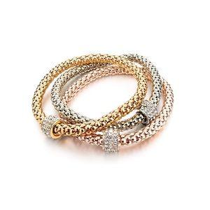 Jewelry - 3pcs Gold Silver Plated Charm Bracelet Luxury